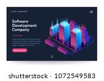 software development company... | Shutterstock .eps vector #1072549583
