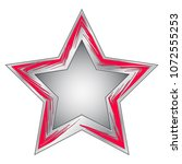red metal star. vector... | Shutterstock .eps vector #1072555253