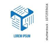 business logo document exchange ... | Shutterstock .eps vector #1072555616