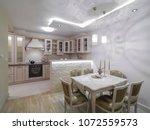 apartment interior design | Shutterstock . vector #1072559573