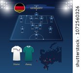 team germany soccer jersey or... | Shutterstock .eps vector #1072560326