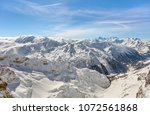 a wintertime view from mt.... | Shutterstock . vector #1072561868
