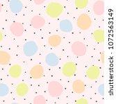 irregular polka dot. trendy... | Shutterstock .eps vector #1072563149