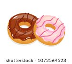 delicious appetizing donuts...   Shutterstock .eps vector #1072564523