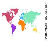 color world map vector | Shutterstock .eps vector #1072567100