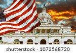 washington dc  united states... | Shutterstock . vector #1072568720