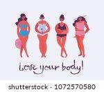 love your body. vector... | Shutterstock .eps vector #1072570580