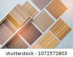 samples of material  wood   on... | Shutterstock . vector #1072572803