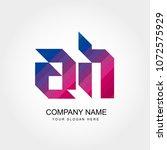 letter ah logo template | Shutterstock .eps vector #1072575929