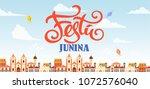 festa junina background place...   Shutterstock .eps vector #1072576040