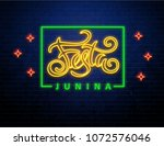 festa junina background place... | Shutterstock .eps vector #1072576046