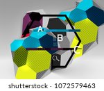3d hexagon geometric... | Shutterstock .eps vector #1072579463