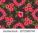 beautiful seamless floral... | Shutterstock .eps vector #1072580744