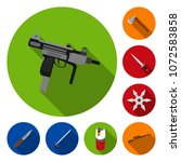 types of weapons flat icons in... | Shutterstock .eps vector #1072583858