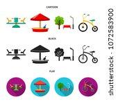 carousel  sandbox  park ... | Shutterstock .eps vector #1072583900