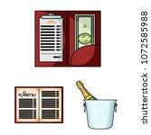 restaurant and bar cartoon... | Shutterstock .eps vector #1072585988