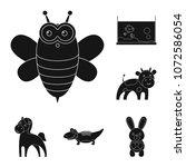 an unrealistic animal black...   Shutterstock .eps vector #1072586054