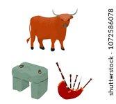 country scotland cartoon icons... | Shutterstock .eps vector #1072586078