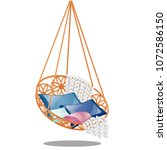 round chair hanging on the... | Shutterstock .eps vector #1072586150