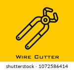 wire cutter vector icon | Shutterstock .eps vector #1072586414