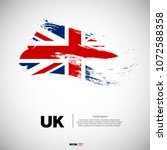 flag of united kingdom with...   Shutterstock .eps vector #1072588358