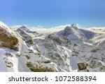 a wintertime view from mt.... | Shutterstock . vector #1072588394