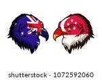 australia vs singapore | Shutterstock . vector #1072592060