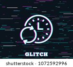 glitch effect. time line icon.... | Shutterstock .eps vector #1072592996