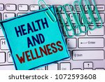 word writing text health and... | Shutterstock . vector #1072593608