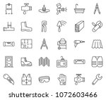 thin line icon set   cutter... | Shutterstock .eps vector #1072603466