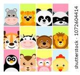 vector illustration of adorable ...   Shutterstock .eps vector #1072604414