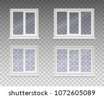 set of closed window with... | Shutterstock .eps vector #1072605089