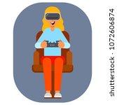 virtual reality glasses gamer... | Shutterstock .eps vector #1072606874