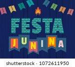 festa junina latin american... | Shutterstock .eps vector #1072611950