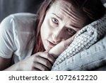 no sleep. gloomy mournful... | Shutterstock . vector #1072612220