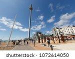 brighton  united kingdom  ... | Shutterstock . vector #1072614050