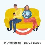 vector cartoon illustration of... | Shutterstock .eps vector #1072616099