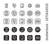 contact information icons ... | Shutterstock .eps vector #1072616510