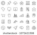 thin line icon set  ... | Shutterstock .eps vector #1072621508