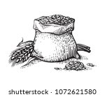 hand sketched whole bag of... | Shutterstock .eps vector #1072621580