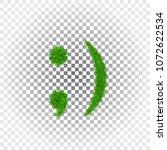 green grass wink smile 3d.... | Shutterstock .eps vector #1072622534