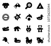 solid vector icon set   dog...   Shutterstock .eps vector #1072623344