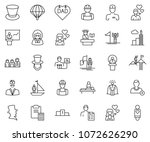 thin line icon set   clipboard... | Shutterstock .eps vector #1072626290