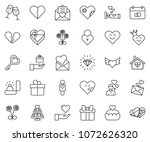 thin line icon set   patched... | Shutterstock .eps vector #1072626320