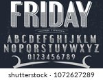 vintage font handcrafted vector ...   Shutterstock .eps vector #1072627289