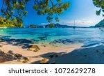 beautiful beach playa de... | Shutterstock . vector #1072629278