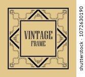 vintage ornamental decorative... | Shutterstock .eps vector #1072630190