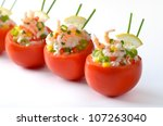 stuffed tomatoes with shrimps ... | Shutterstock . vector #107263040