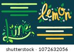 lemon and lime peel vector art... | Shutterstock .eps vector #1072632056