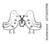 grunge couple bird animal...   Shutterstock .eps vector #1072632908